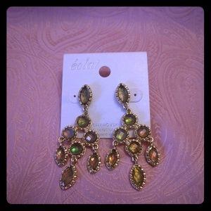 Swarovski crystal gold tone earrings